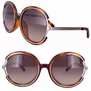 Chloe round Havana sunglasses
